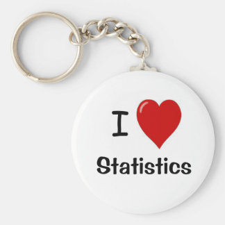 Llavero Amo las estadísticas - estadísticas del corazón de