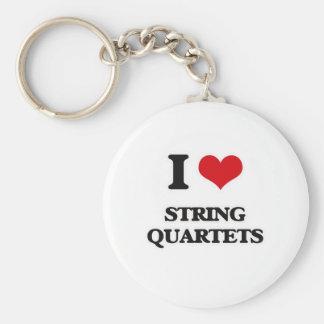 Llavero Amo los cuartetos de cuerda