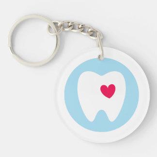 Llavero Amo los dientes - diente con el dentista dental