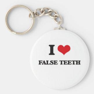 Llavero Amo los dientes falsos