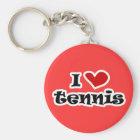 Llavero Amo los regalos del tenis y las camisetas con el c