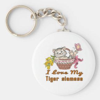 Llavero Amo mi tigre siamés