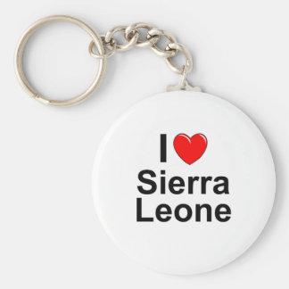 Llavero Amo Sierra Leone del corazón