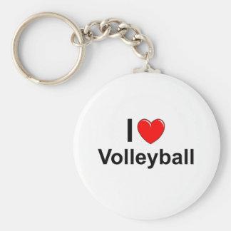 Llavero Amo voleibol del corazón