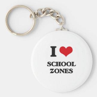Llavero Amo zonas de la escuela