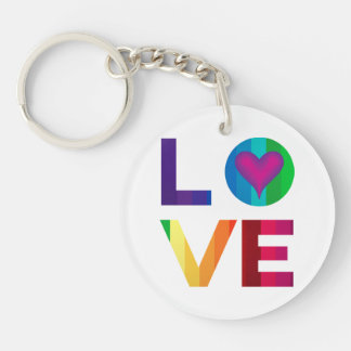 Llavero Amor del arco iris