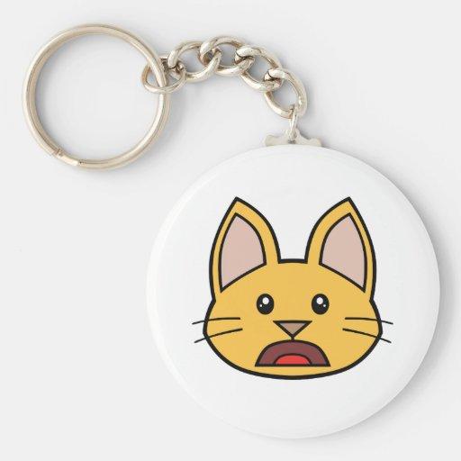 Llavero anaranjado 01 del gato FACE0000004