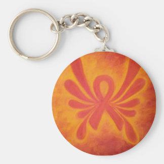 Llavero anaranjado de la cinta del ms