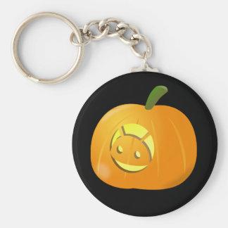 Llavero androide fresco del botón de Halloween de
