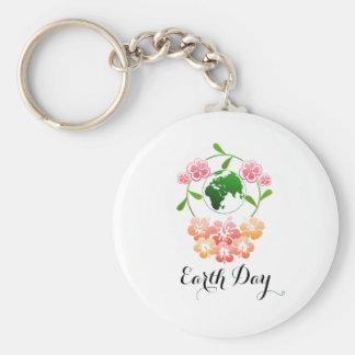 """Llavero Anillo dominante bonito del """"Día de la Tierra"""""""
