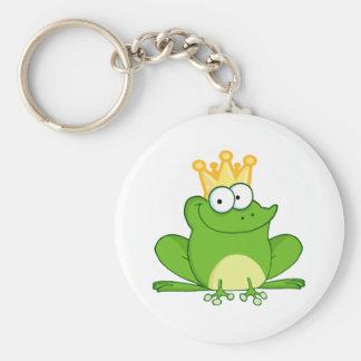 Llavero Animal lindo del dibujo animado de rey Frog Frogs