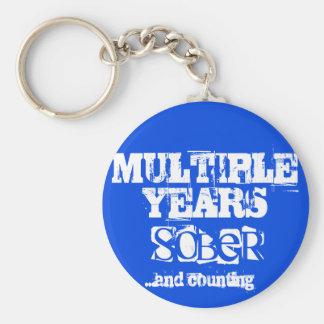 Llavero Años múltiples de sobriedad