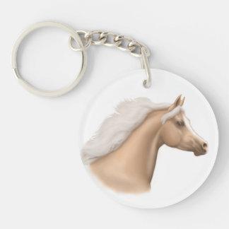 Llavero árabe del retrato del caballo del Palomino