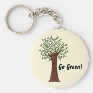 Llavero Árbol verde alto