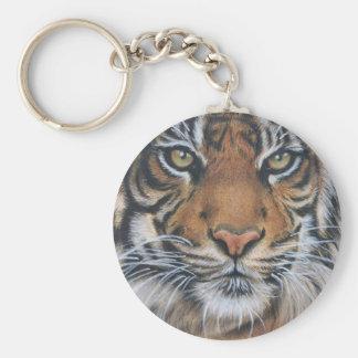 Llavero Arte del animal de la fauna del tigre