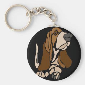 Llavero Arte divertido del perro de Basset Hound