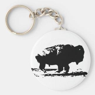 Llavero Arte pop corriente del bisonte del búfalo
