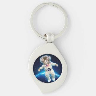 Llavero Astronauta del gato - gato del espacio - amante