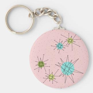 Llavero atómico icónico rosado del botón de