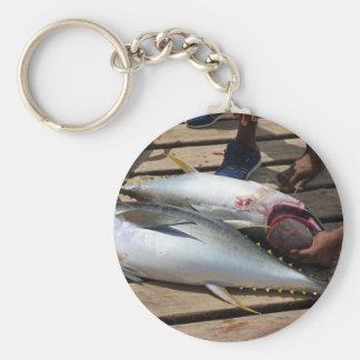 Llavero atún amarillo de las aletas