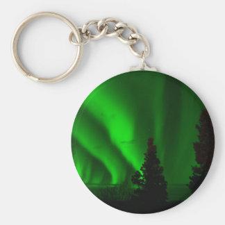 Llavero Aurora boreal verde