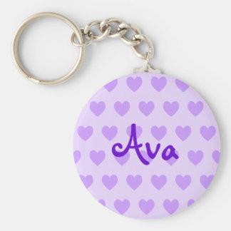 Llavero Ava en púrpura