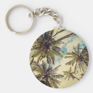 Llavero azul de la palmera de Hawaii Kauai del