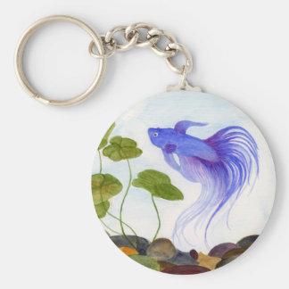 Llavero azul de los pescados de Betta