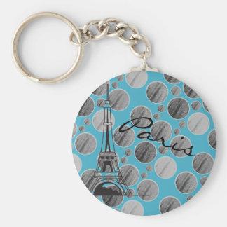 Llavero azul del círculo del punto de París