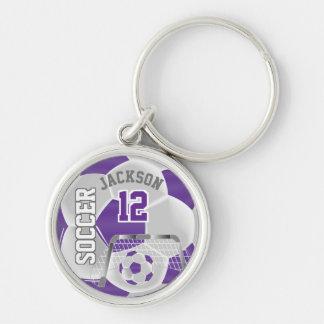 Llavero Balón de fútbol del equipo de la púrpura y del