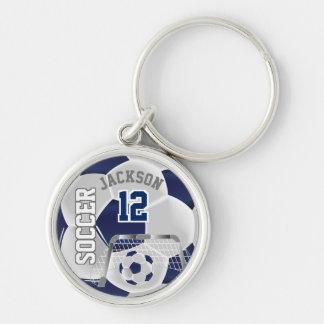 Llavero Balón de fútbol del equipo de los azules marinos y