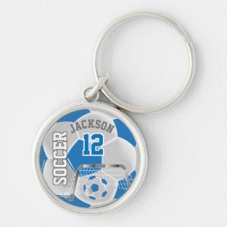 Llavero Balón de fútbol del equipo del azul y del blanco