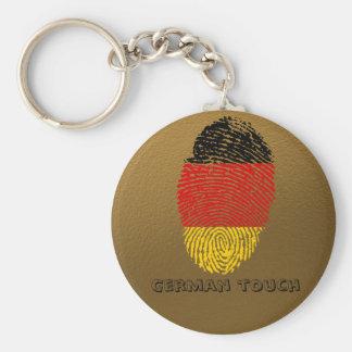 Llavero Bandera alemana de la huella dactilar del tacto