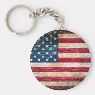 Llavero Bandera americana del Grunge