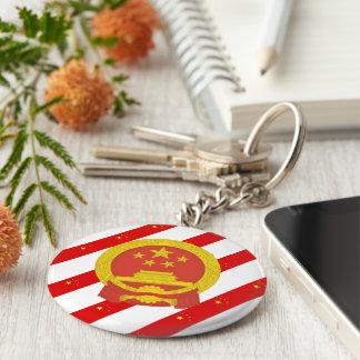 Llavero Bandera china de las rayas