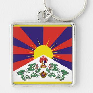 Llavero Bandera de la bandera del león de Tíbet o de la