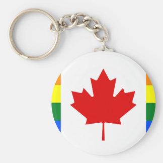 Llavero Bandera del arco iris de Canadá