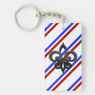 Llavero Bandera francesa de las rayas