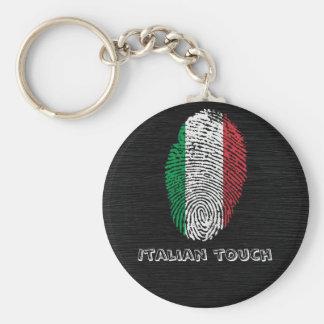 Llavero Bandera italiana de la huella dactilar del tacto