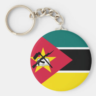 Llavero Bandera nacional del mundo de Mozambique