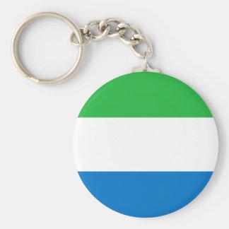 Llavero Bandera nacional del mundo del Sierra Leone