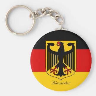 Llavero Bandera personalizada de Alemania con el escudo de