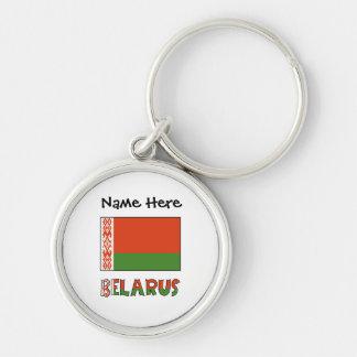 Llavero Bandera y Bielorrusia bielorrusos con nombre
