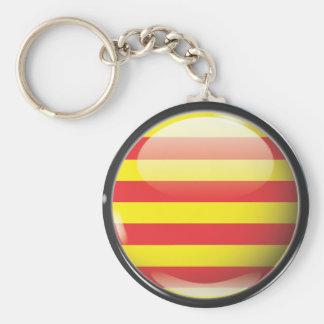Llavero Bandera y escudo de Cataluña