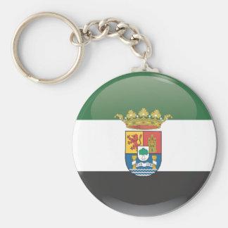 Llavero Bandera y escudo de Extremadura