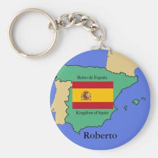 Llavero Bandera y mapa de España