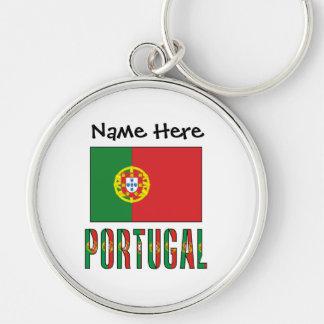 Llavero Bandera y Portugal portugueses con nombre