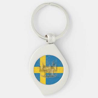 Llavero Bandera y símbolos de Suecia ID159