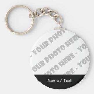 Llavero básico de la foto y del texto - cree sus l