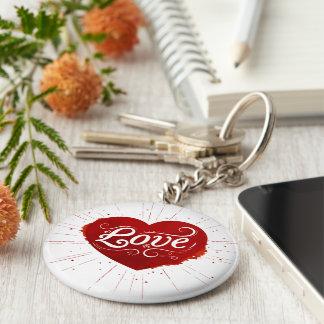 llavero básico del botón del amor